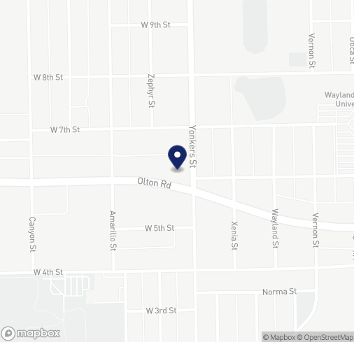 Map of 2602 Olton Rd in Plainview
