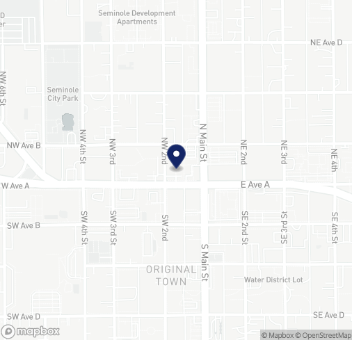 Map of 102 W Avenue A in Seminole