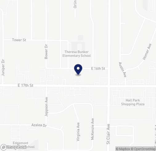 Map of 1385 E 17th St in Idaho Falls