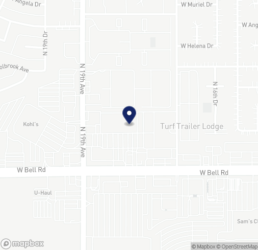 Map of 1804 W Bell Rd in Phoenix