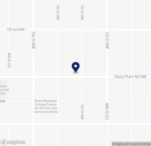 Map of 15420 Stony Plain Rd NW in Edmonton