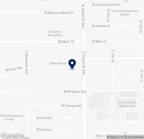 Map of 1523 W Main St in El Centro