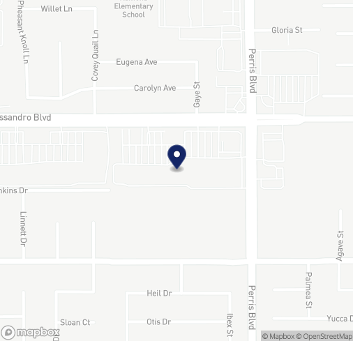 Map of 24875 Alessandro Blvd in Moreno Valley