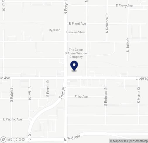 Map of 3611 E Sprague Ave in Spokane