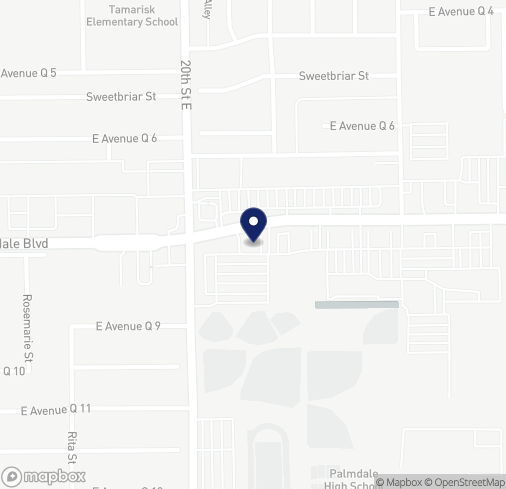 Map of 2042 E Palmdale Blvd in Palmdale