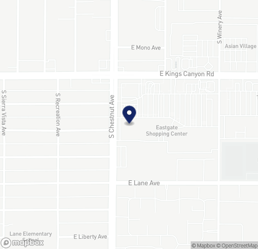 Map of 4832 E Kings Canyon Rd in Fresno