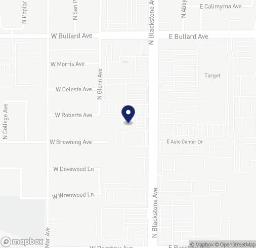 Map of 5633 N. Blackstone Ave in Fresno