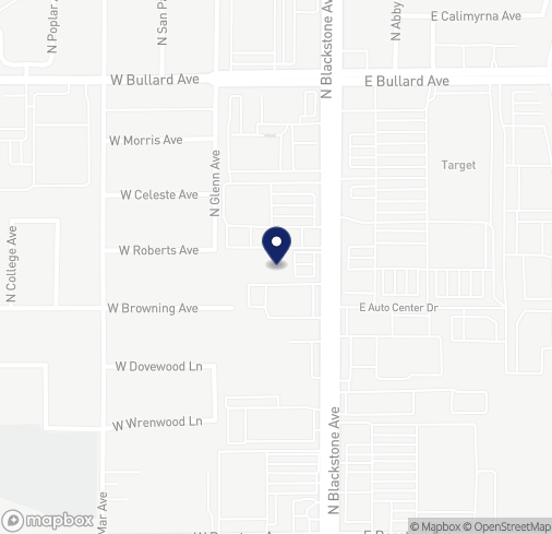 Map of 5633 N Blackstone Ave in Fresno