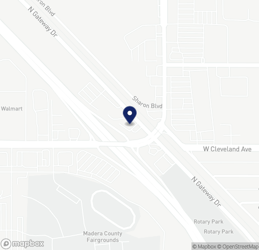Map of 1110 N Gateway Dr in Madera