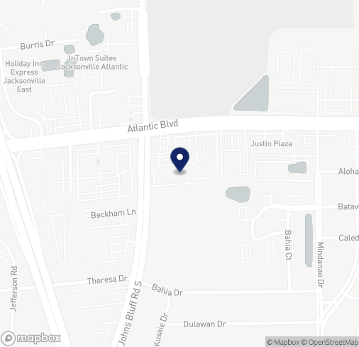 Map of 10740 Atlantic Blvd in Jacksonville