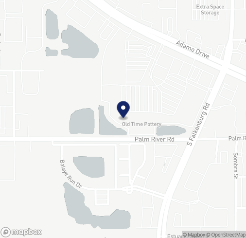 Map of 10103 E Adamo Dr in Tampa