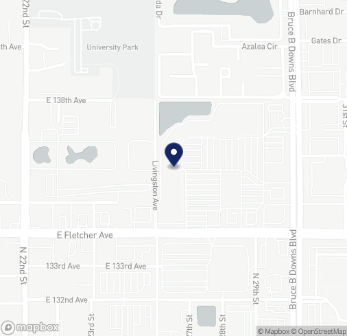 Map of 13542 University Plaza St in Tampa