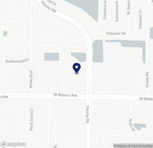 Map of 7539 W Waters Ave in Tampa