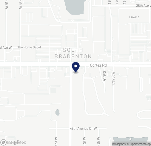 Map of 1905 Cortez Rd W in Bradenton