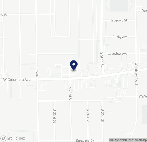 Map of 1158 Columbia Ave W in Battle Creek