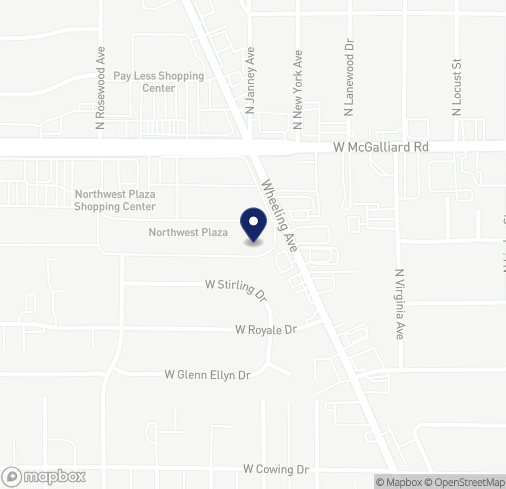 Map of 1407 W McGalliard Rd in Muncie