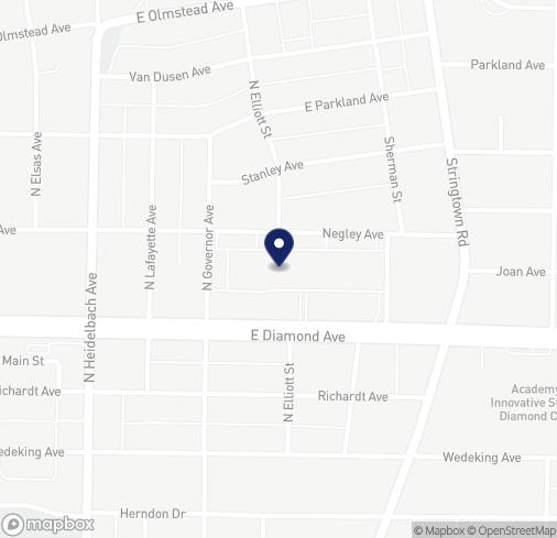 Map of 424 E Diamond Ave in Evansville