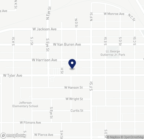 Map of 813 W Harrison Ave in Harlingen
