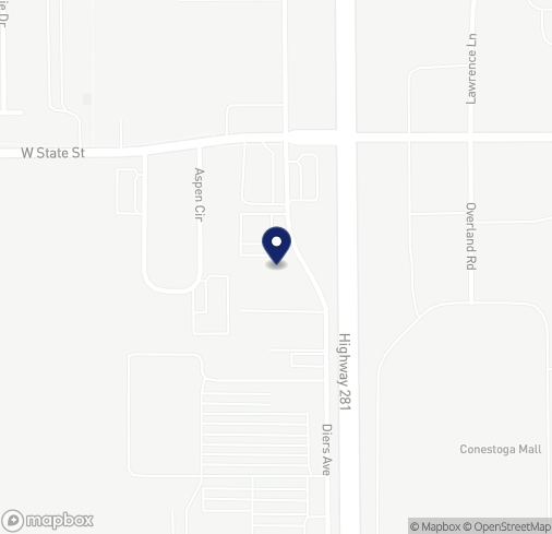Map of 1804 N Diers Ave in Grand Island