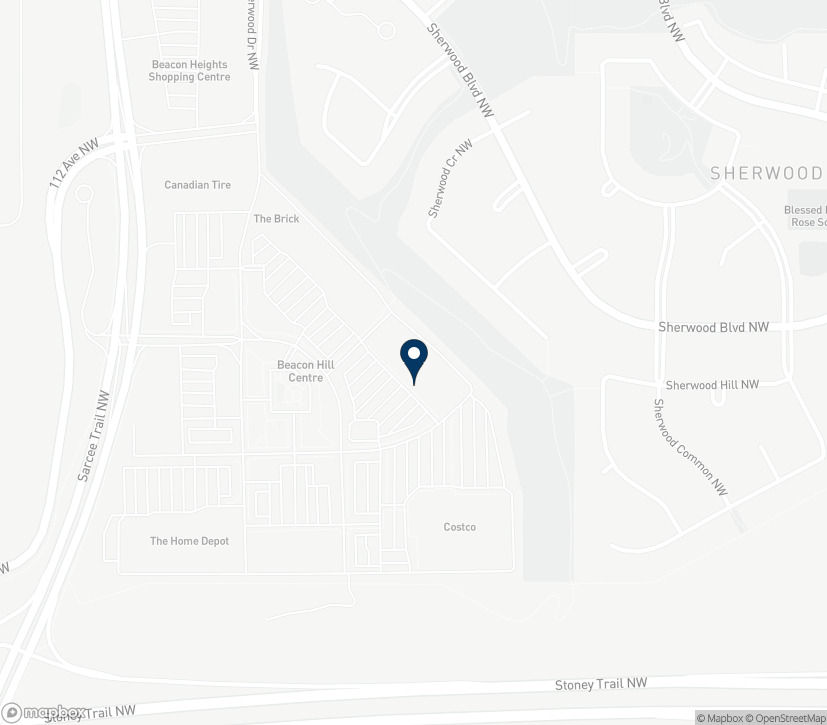 Map of 11692 Sarcee Trail NW in Calgary