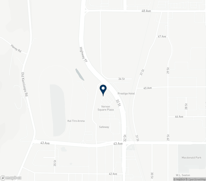 Map of 4400 32nd St in Vernon