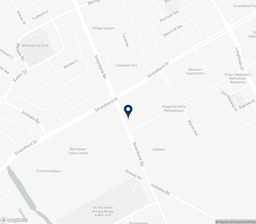 Map of 3161 Greenbank Road in Nepean