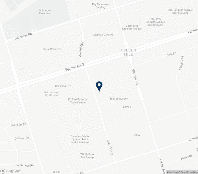 Map of 822 Warden Avenue in Scarborough