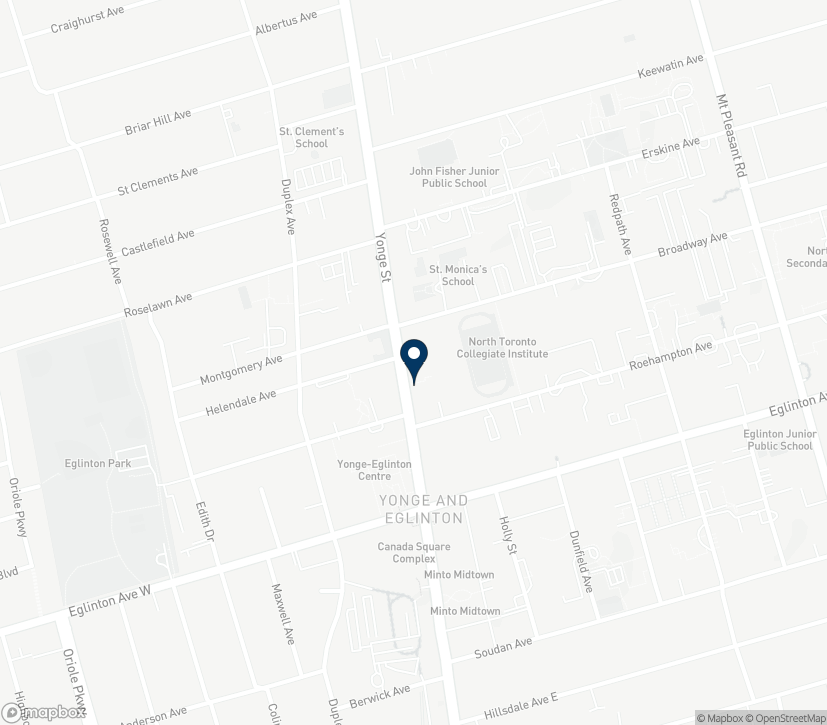 Map of 2355 Yonge Street in Toronto