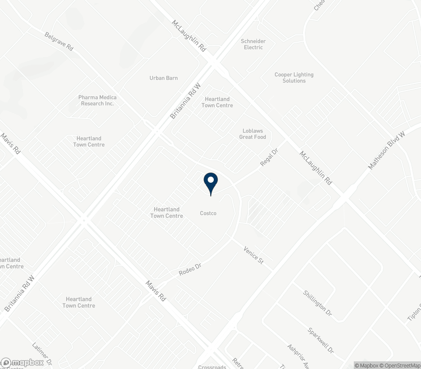 Map of 5930 Rodeo Drive in Mississauga