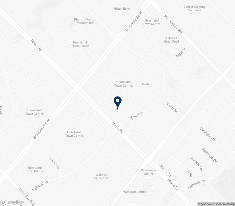Map of 5935 Mavis Road in Mississauga