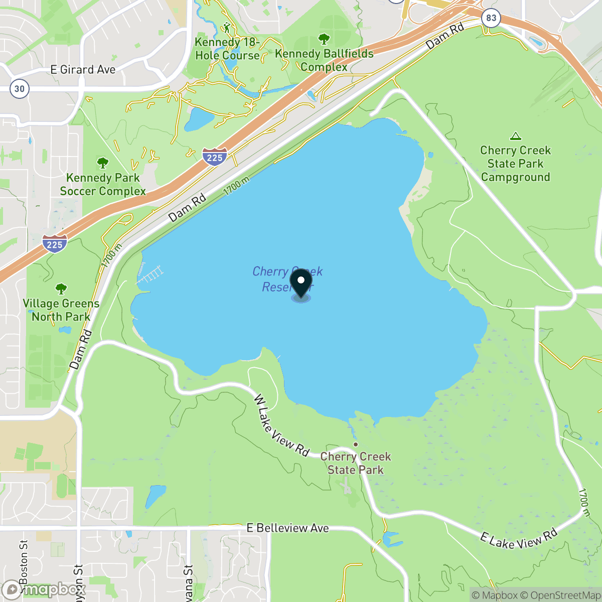 Cherry Creek Lake Map