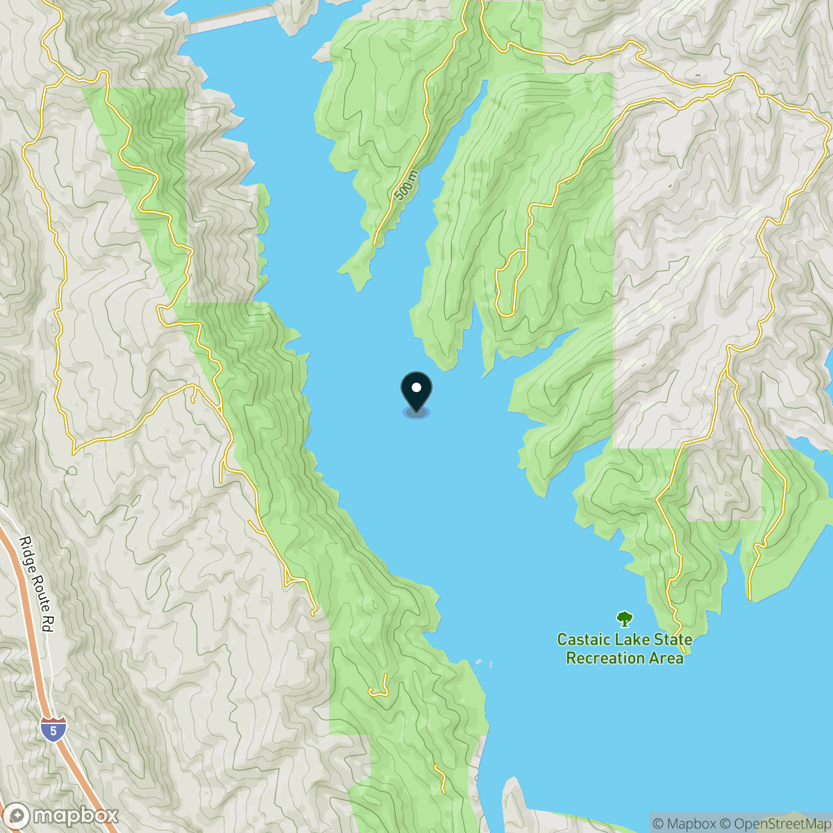 Castaic Lake Map