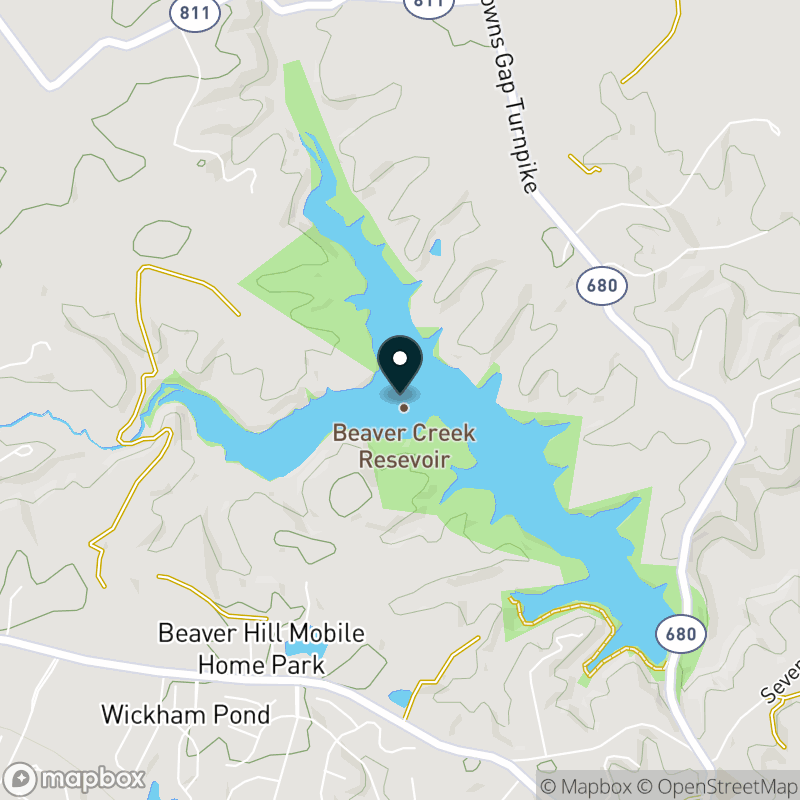 Beaver Creek Reservoir Map