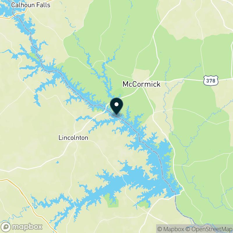 J. Strom Thurmond Reservoir Map