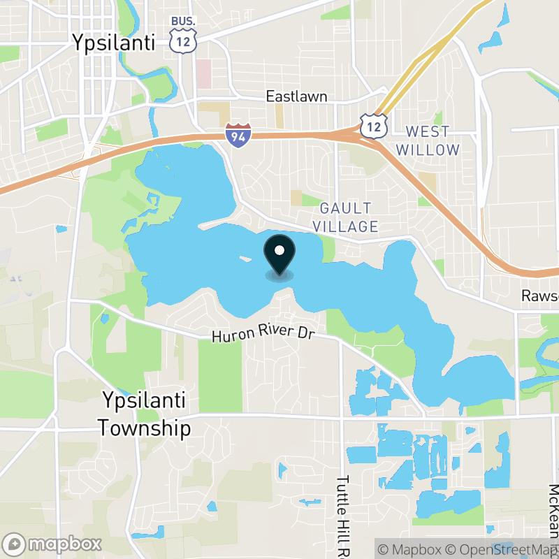 Ford Lake (MI) Map