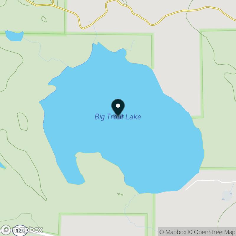 Big Trout Lake (MI) Map