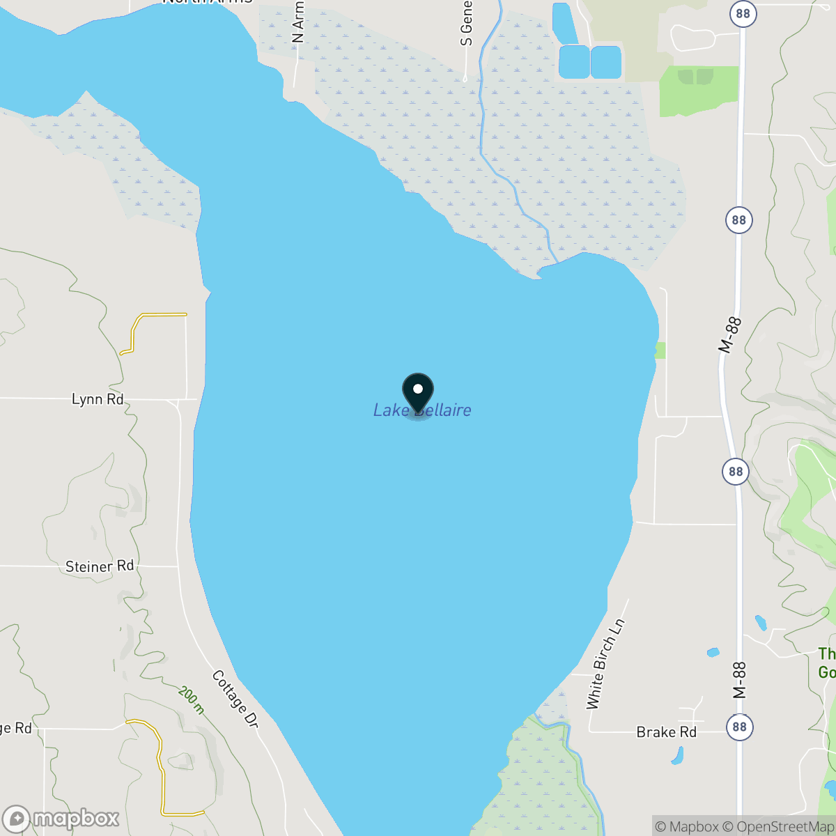 Lake Bellaire Map