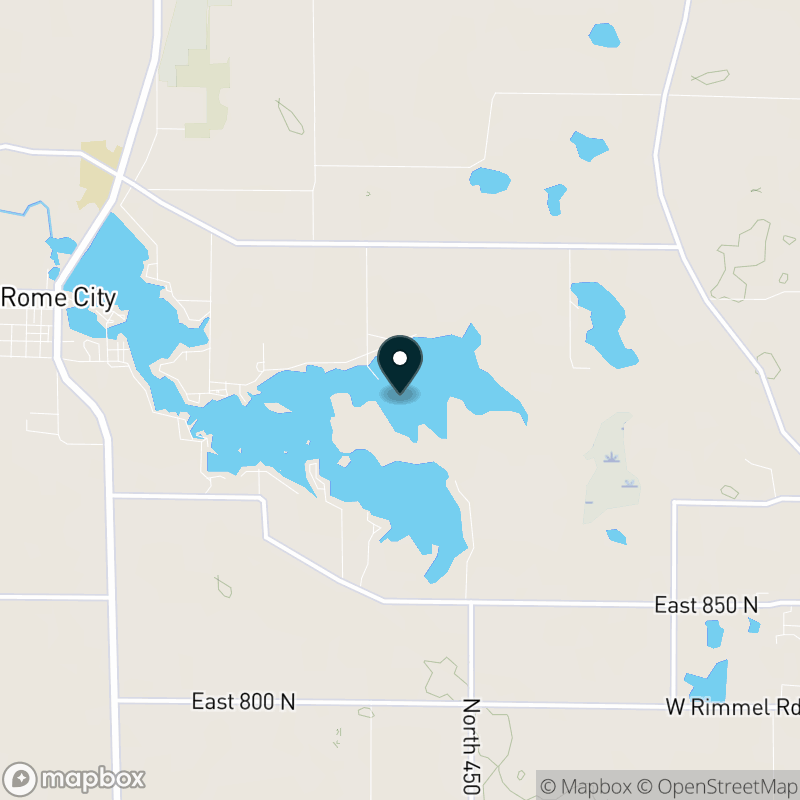 Sylvan Lake (IN) Map