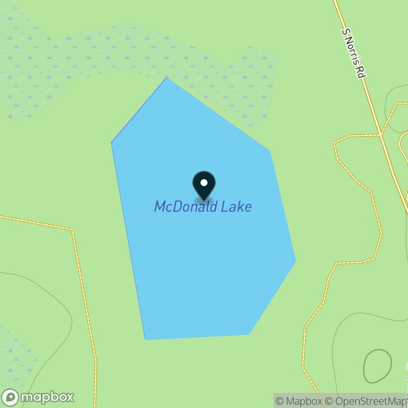 McDonald Lake Map