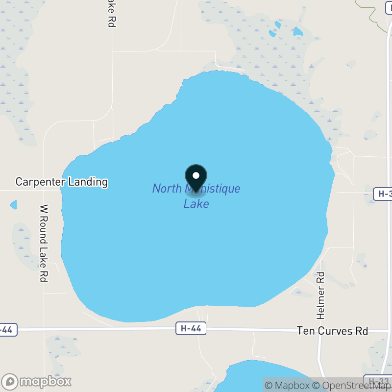 North Manistique Lake Map