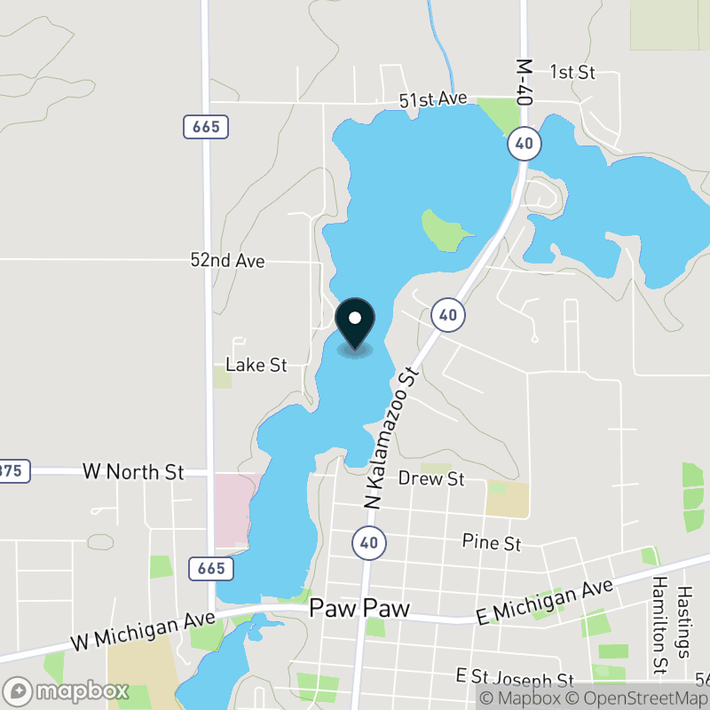 Maple Lake (MI) Map