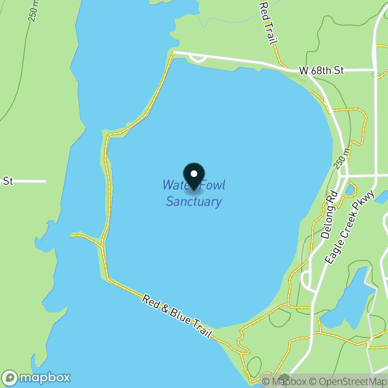Eagle Creek Reservoir (IN) Map