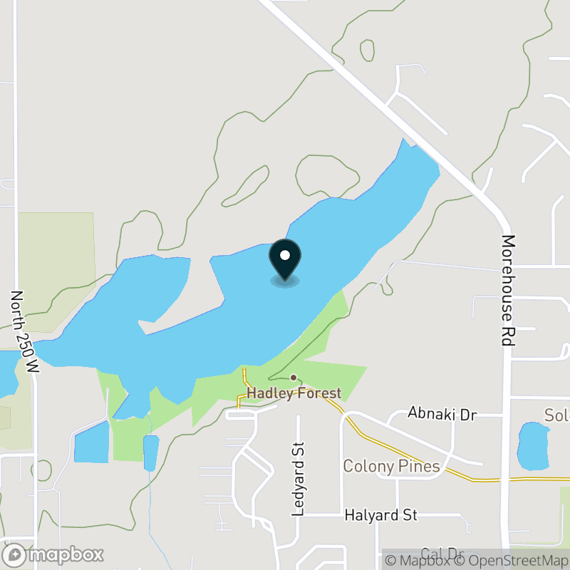 Hadley Lake (IN) Map