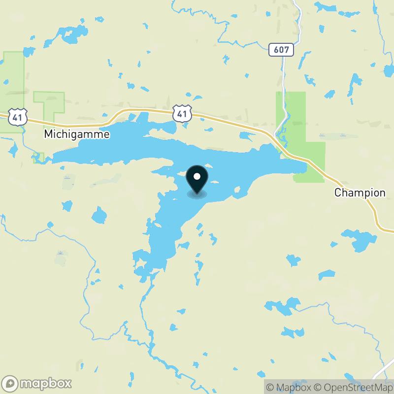 Lake Michigamme Map