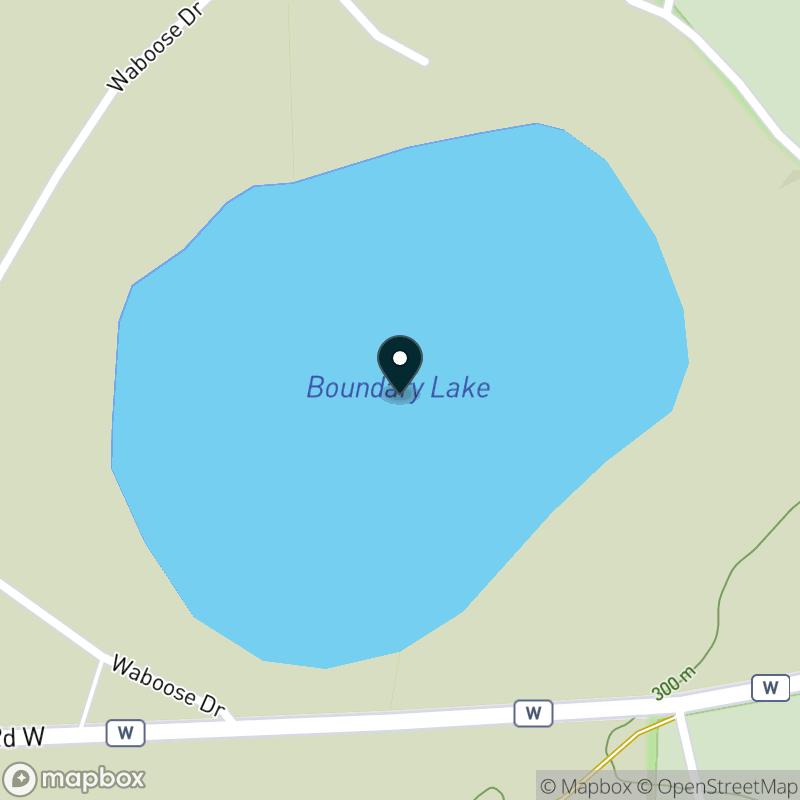 Boundary Lake Map