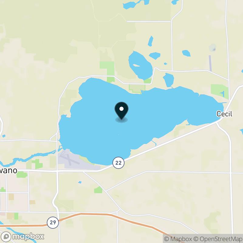Shawano Lake Map