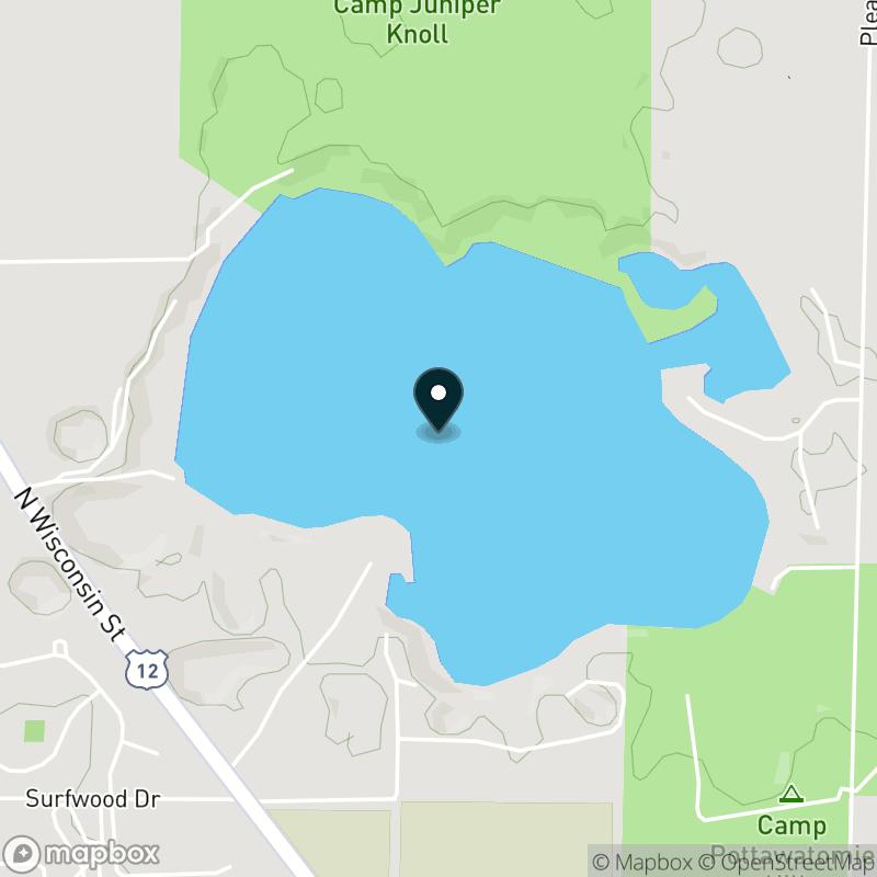 Pleasant Lake (WI) Map