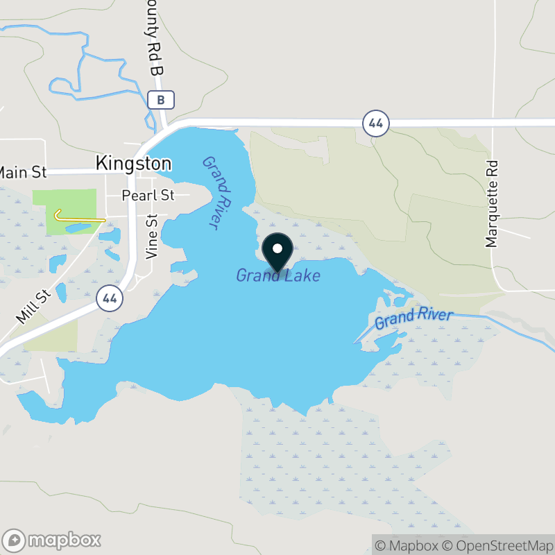 Grand Lake (WI) Map