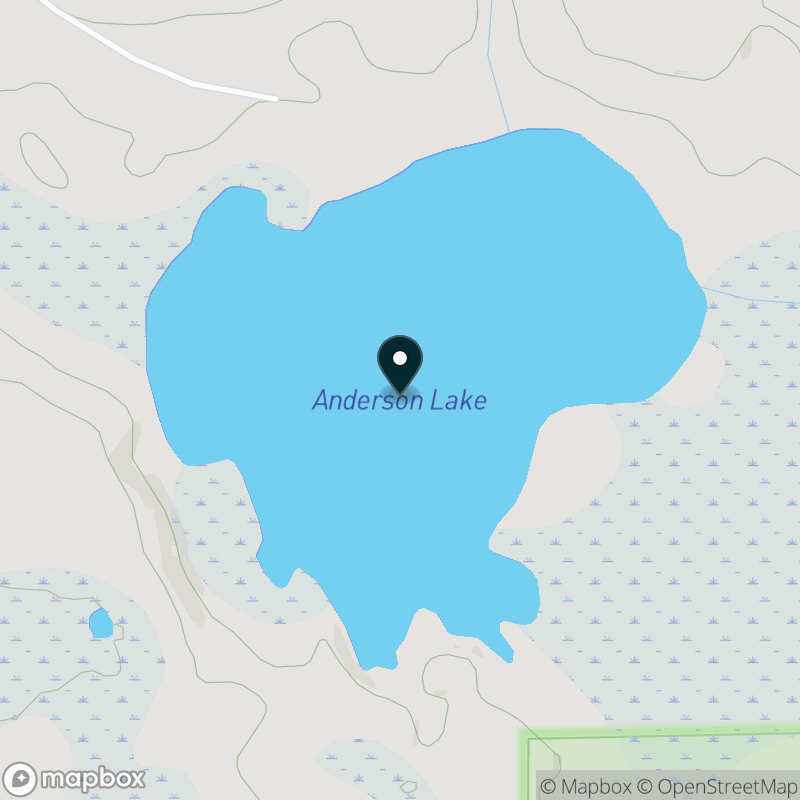 Anderson Lake (MI) Map