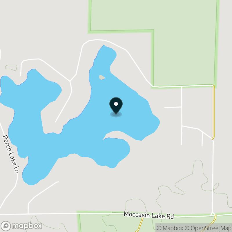 Moccasin Lake (WI) Map
